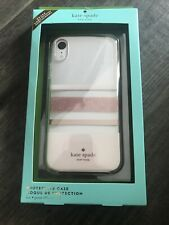 KATE SPADE New York Striped  iPhone Case XR Pink White