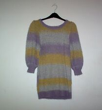 Multi Coloured 3/4 Sleeve Wool Mix Jumper by H&M - Size S - Lovely Condition
