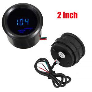 "2"" Car Blue LED Digital Water Temperature Gauge 1/8"" NPT Sensor With Accessories"