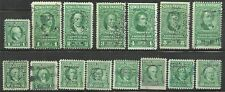 us revenue stock transfer tax stamps - issues of 1943 - 15 stamps