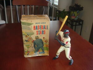 1958 - 1962 Hartland Plastics Statue Hank Aaron with Original Box and Bat