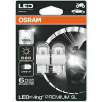 Osram Premium LED 582/382W Cool White 6000K Bulbs W21W W3x16d T20 1.5W 7905CW-02