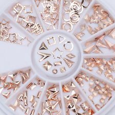 Rose Gold Rivet Studs Star Round Square Triangle Mixed Phone 3D Nail Decoration