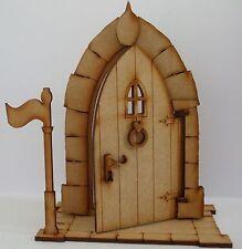 Opening XL Fairy Castle Door: Large Freestanding 3D Wooden Fairy Door Craft Kit