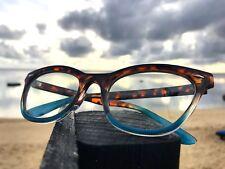 "Cat Eye Demi ""BABY BAN"" Ombre BAMBI Crystal Clear Tortoise Eyeglasses Shadz"