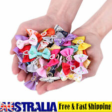 Mixed Pet Small Dog Hair Bows Rubber Bands Puppy Cat Grooming Accessory X60 pcs
