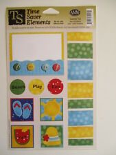 Time Saver Elements Cardstock Stickers - Summer Fun - beach holiday