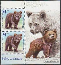 2020 Belarus Bear Wild Animals MNH