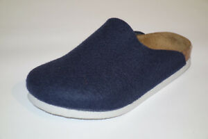 Birkenstock Amsterdam Gr. 29, 33 blau Hausschuh Pantoffeln Wolle Kinder schmal