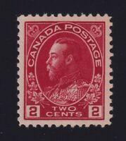 Canada Sc #106v (1917-22) 2c deep red Admiral Mint VF NH MNH