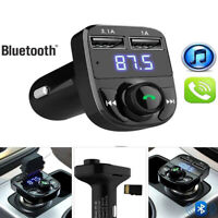 Wireless Bluetooth FM Transmitter Radio LCD MP3 Player USB Charger Hand-free