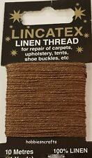 BROWN STRONG LINEN THREAD Lincatex For All Types Of Heavy Duty Mending