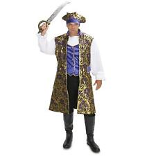 New Mens XL Royal Brocade Victorian PIRATE shirt vest jacket hat Costume