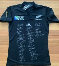 New Zealand 2015 All Blacks Signed Rugby World Cup Jersey – 100% authentic COA