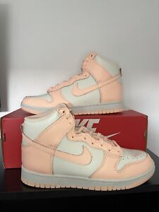 Nike Dunk High Sail Crimson Tint (W) UK 6.5 ✅ Fast And Free Special Delivery 🚚