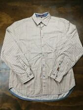 Men's 7 Seven for All Mankind Button Down Dress Shirt Size M Medium Beige LS