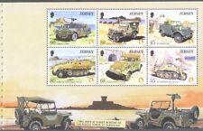 Jersey -Military transport pane min sheet ex booklet mnh-Tanks-Jeep