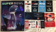 2018 New England Patriots Super Bowl LII Program Tailgate & Post Game Passes