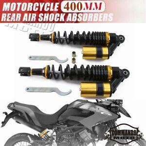 Gold 400mm Rear Shock Air Absorbers Suspension Kits for Honda Suzuki  Yamaha