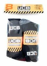 Men's 8pk Official JCB Anti Shock Work Socks Reinforced Heel/Toe UK6-11EU 39-46