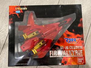 Bandai Macross 1/65 Fire Valkyrie VF-19 Custom Robotech Made In Japan 2001