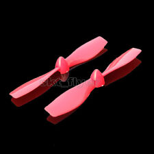 6pcs 75*1mm Red Double-blade Fixed wing Aircraft Propeller Model DIY Hobby
