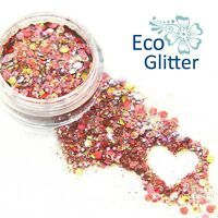 Biodegradable Cosmetic Glitter, Eco Sparkles, Festival Pink Chunky Unicorn Kc