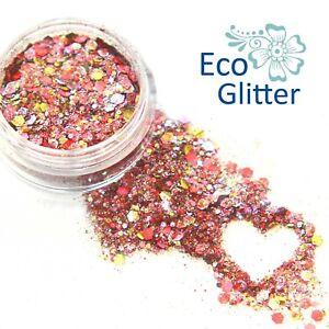 Biodegradable Cosmetic Glitter, Eco Sparkles, Festival Pink Chunky Unicorn Kc