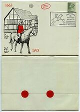 GB 1973 WILTSHIRE PHILATELIC FEDERATION CARRIED BY POST BOY + HORSE + POSTMARK
