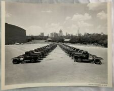 Antique Photograph Dallas Texas Skyline Red Ball Motor Freight Trucks