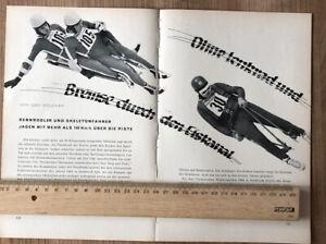 Rennrodler Skeleton 1965 Rodel Schlitten Eiskanal Sport Rennschlitten Winter 294