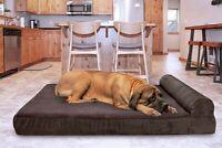 FurHaven Pet Cooling, Orthopedic, Memory Foam Corduroy Chaise Sofa Dog Bed