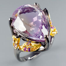 Vintage19ct+ Natural Ametrine 925 Sterling Silver Ring Size 8.5/R115867