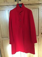J Crew Double Cloth Thinsulate Luxe Neck RED Dress Coat - L
