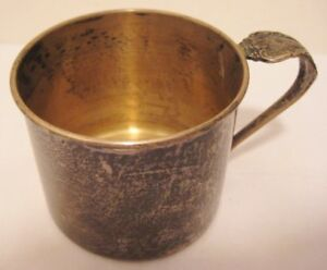 Old Sterling Silver Oneida Community Melbourne Childs Cup w/Spoon Handle NO MONO