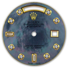 REFINED MENS Y-GOLD DAY-DATE BLUE TAHITIAN MOP 8+2 DIAMOND DIAL FOR ROLEX-36