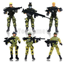 Set of 6 Special Forces Elite Heroes Toy Soldier Action Figures Playset