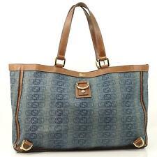 Auth Gucci Gg Denim Shoulder Tote Bag #3736G14
