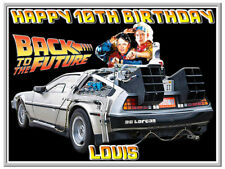 Back to The Future Car Edible Cake Topper Image Icing Birthday Party Decoration