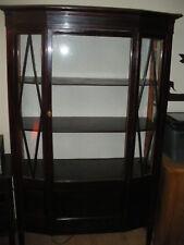 Vitrinenschrank Antik drei Seiten Glas