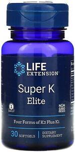 Super K Elite 30 Softgels by Life Extension