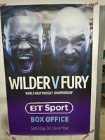 DEONTAY WILDER vs. TYSON FURY / 6ft x 4ft Official BT SPORTS Boxing Promo Poster
