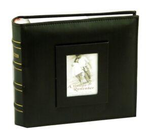 200 Pockets Slip Photo Album w Memo Note Area Family Friends Wedding Black