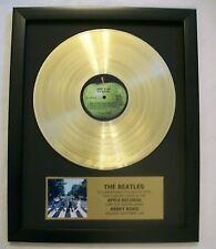 Beatles ABBEY ROAD Gold LP Record + Mini Album Disc Not a Award + Plaque