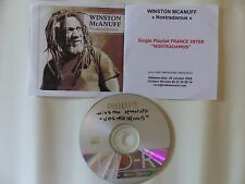 CDr single Promo WINSTON MCANUFF Nostradamus Playlist France Inter