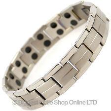 NEW Mens TITANIUM Magnetic Bracelet Chrome 32 Magnets NdFeB Neodymium Therapy