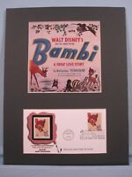 Walt Disney's Bambi & First Day Cover of Stamp