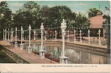 Lagoon and Merry-Go-Round Luna Park Scranton PA Postcard Amusement Park