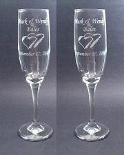 Charisma  Wedding Toasting Glasses,Flutes, Engraved