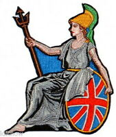"Britannia Embroidered Patch 7.5cm x 10cm (3 1/4"" x 4"")"